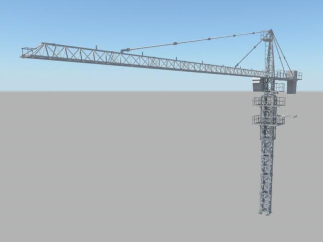 Tower Crane 3d model Maya files free download - modeling 41362 on CadNav