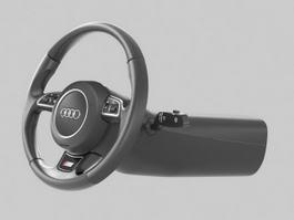 Car Steering Wheel 3d preview