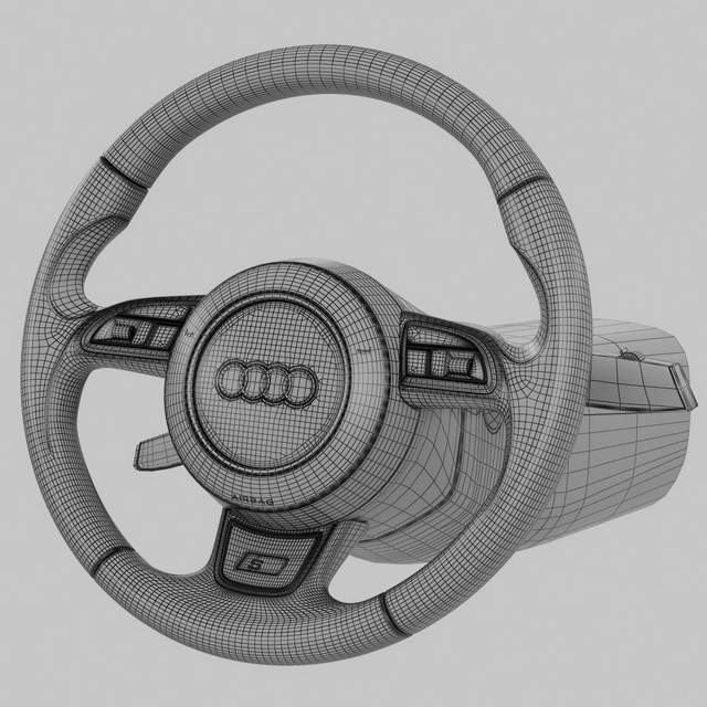 car steering wheel 3d model object files free download modeling 41365 on cadnav. Black Bedroom Furniture Sets. Home Design Ideas