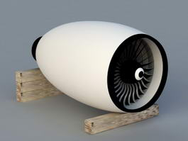 GE Aviation Jet Engine 3d model