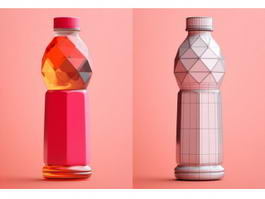 Plastic Beverage Bottle 3d model