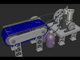 Engineering Animation 3d model