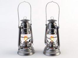 Antique Dietz Oil Lamps 3d model
