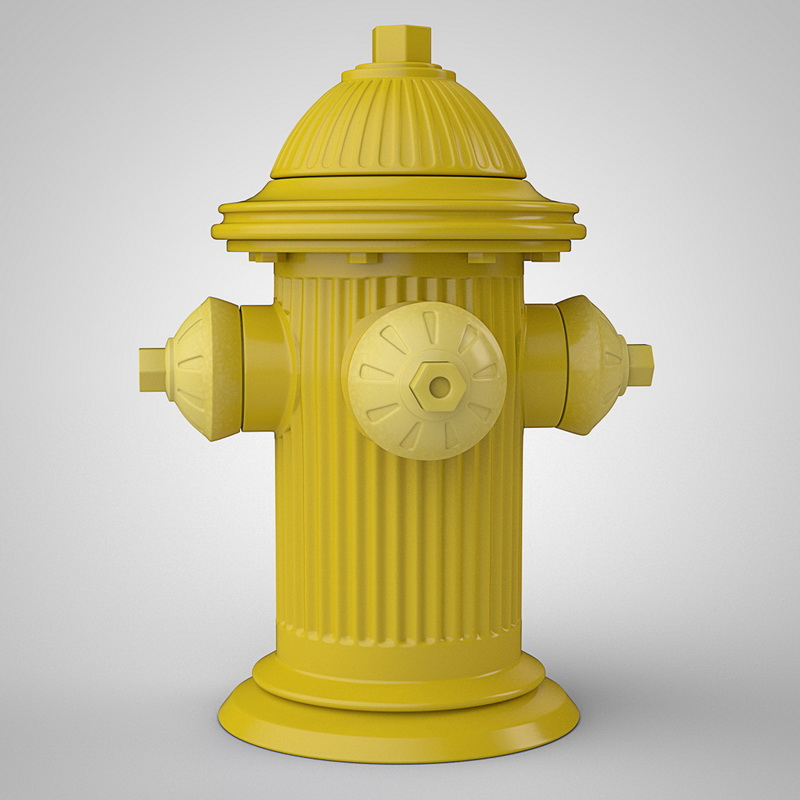 Yellow Fire Hydrant 3d Model Cinema 4d Files Free Download