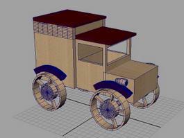 wooden model truck 3d model