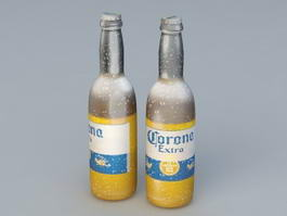 Corona Extra Beer Bottle 3d model