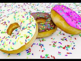 Pretty Donuts 3d model