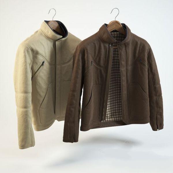 Leather Jacket 3d rendering