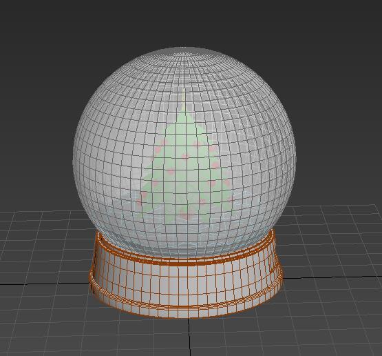 Christmas Snow Globe 3d model - CadNav