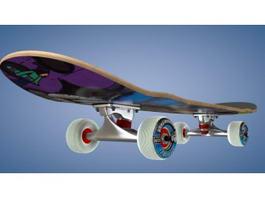 Girl Skateboard 3d model