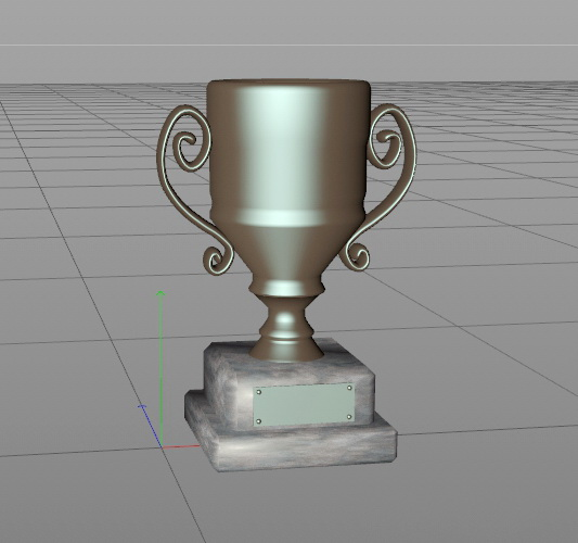 Award Cup Trophy 3d model