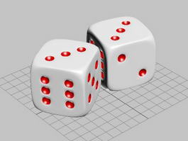 Traditional Dice 3d model