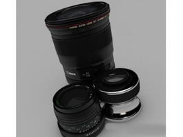 Canon Camera Lenses 3d model