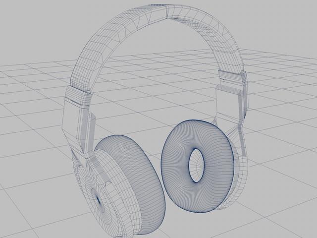 Beats Headphone 3d model Cinema 4D files free download - modeling