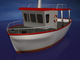 Cartoon Boat 3d model