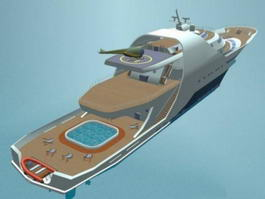 Super Luxury Motor Yacht 3d model