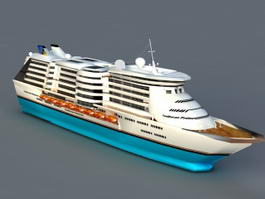 Caribbean Princess Cruise Ship 3d model