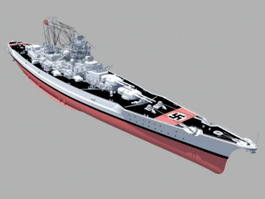 German Battleship Bismarck 3d model