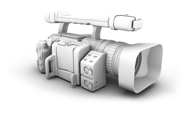 Canon HDV Camcorder 3d model Maya files free download