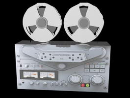 Open Reel Tape Recorder 3d model