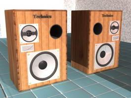 Technics Speakers 3d model