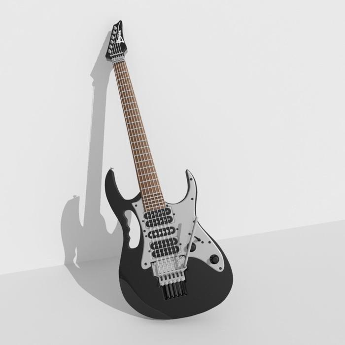 Electric Guitar 3d Model Maya Files Free Download Modeling 41519