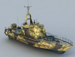 River Gunboat 3d model