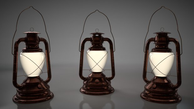 Old Oil Lamp 3d Model Autodesk Fbx Object Files Free