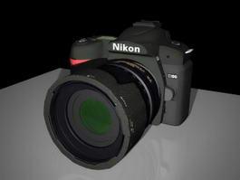 Nikon D90 Camera 3d model