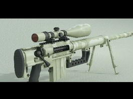 M200 Intervention Sniper Rifle 3d model