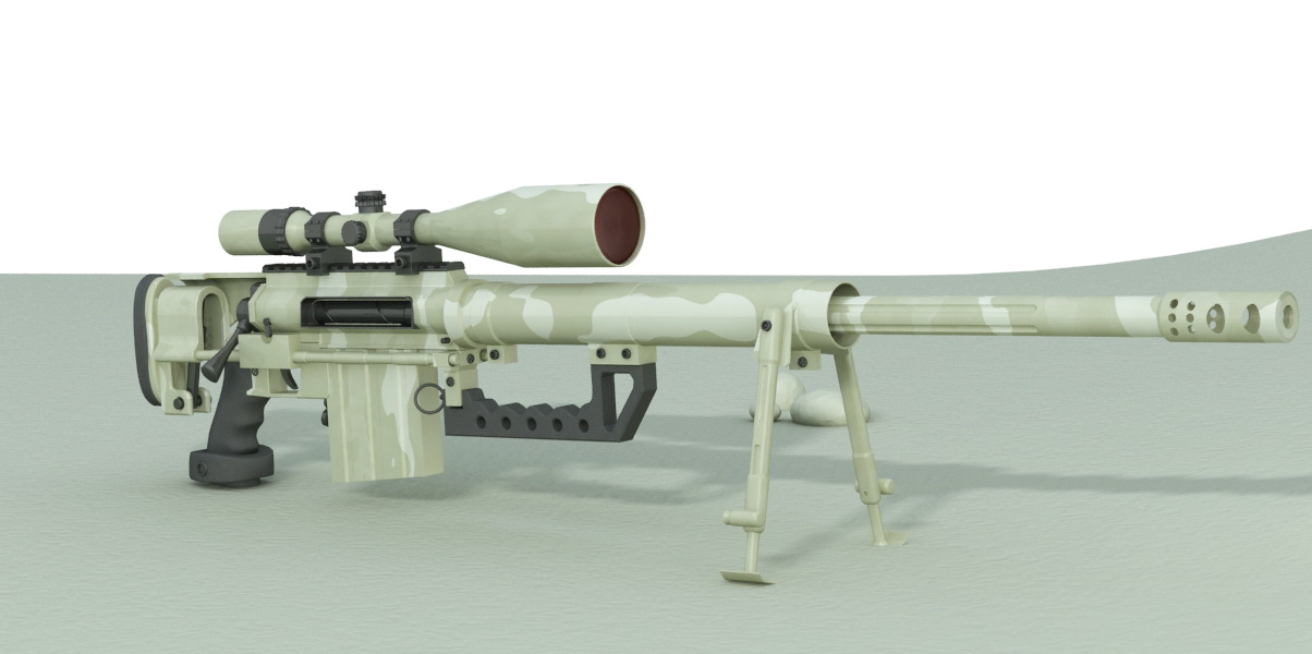 M200 Intervention Sniper Rifle 3d model - CadNav