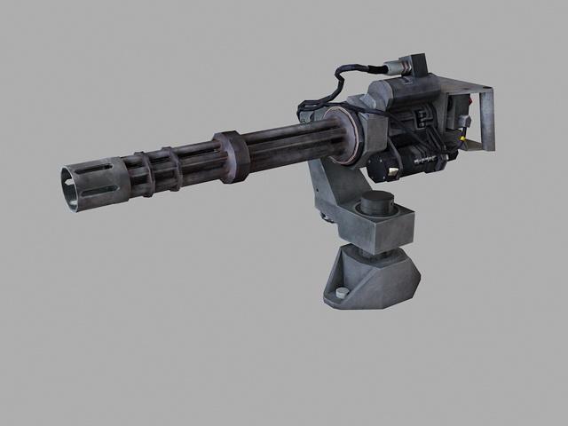 Minigun Weapon 3d model