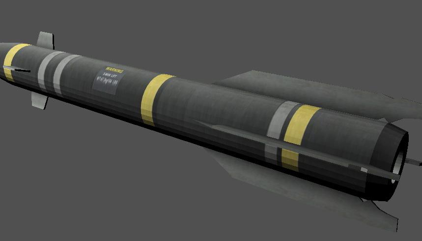 AGM-114HellFire Missile 3d model