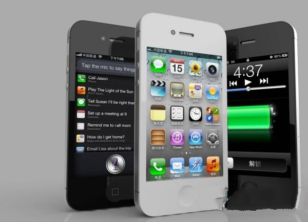 iPhone 4 Black and White 3d model