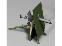 Skoda M1909 Machine Gun 3d model