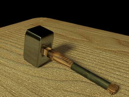 War Hammer Weapon 3d model