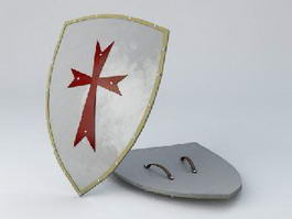 Crusader Shield 3d model