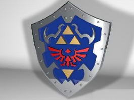 Zelda Hylian Shield 3d model
