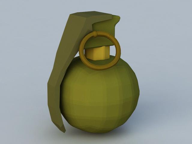 Baseball Hand Grenade 3d model