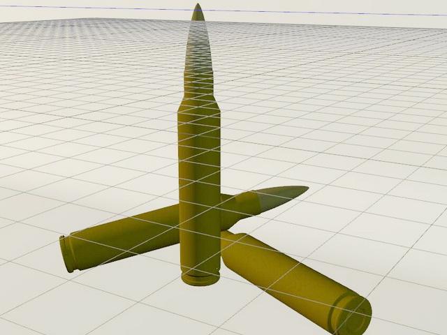 Sniper Rifle Bullets 3d model Cinema 4D files free download
