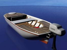Motor Fishing Boat 3d model