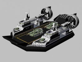 Military Hovercraft Transport 3d model