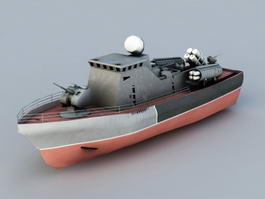 Missile Gunboat 3d model