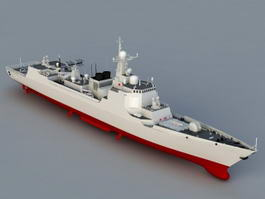 Navy Frigate Ship 3d model