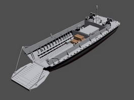 Military Landing Craft 3d model