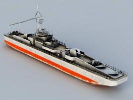 World War 2 Battleship 3d model