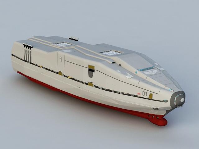 2012 Movie Ark Ship 3d model