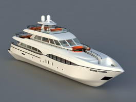 Luxury Motor Yachts Boat 3d model