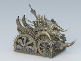 Bronze War Chariot 3d model