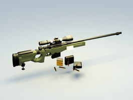 AWM Sniper Rifle 3d preview